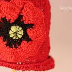 Crochet Poppy Flower Baby H..