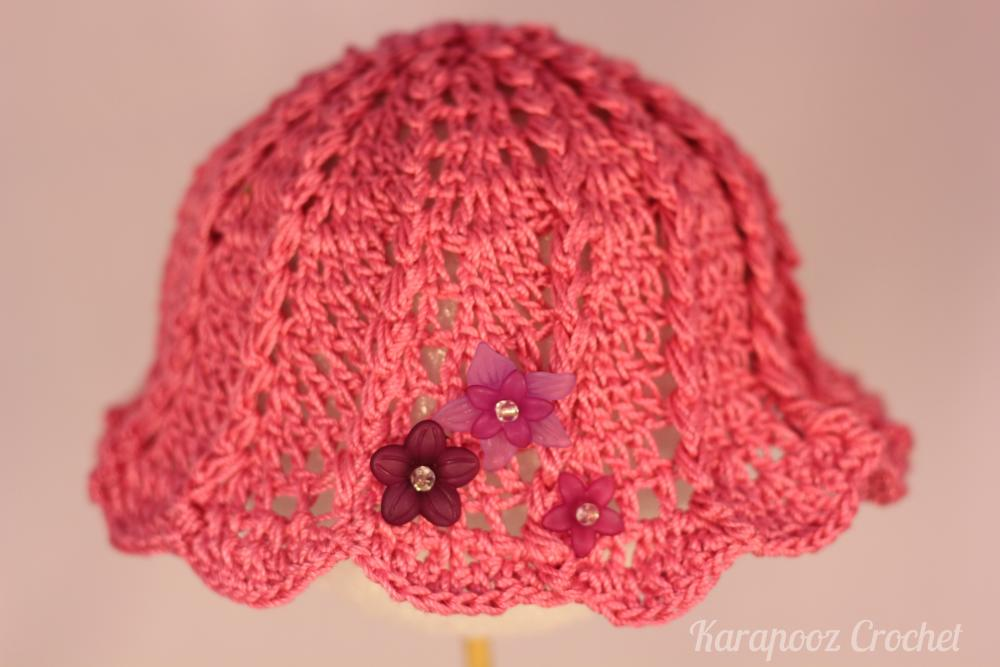 crochet baby hat 3 6 months handmade crochet baby hat 3 6 months ...