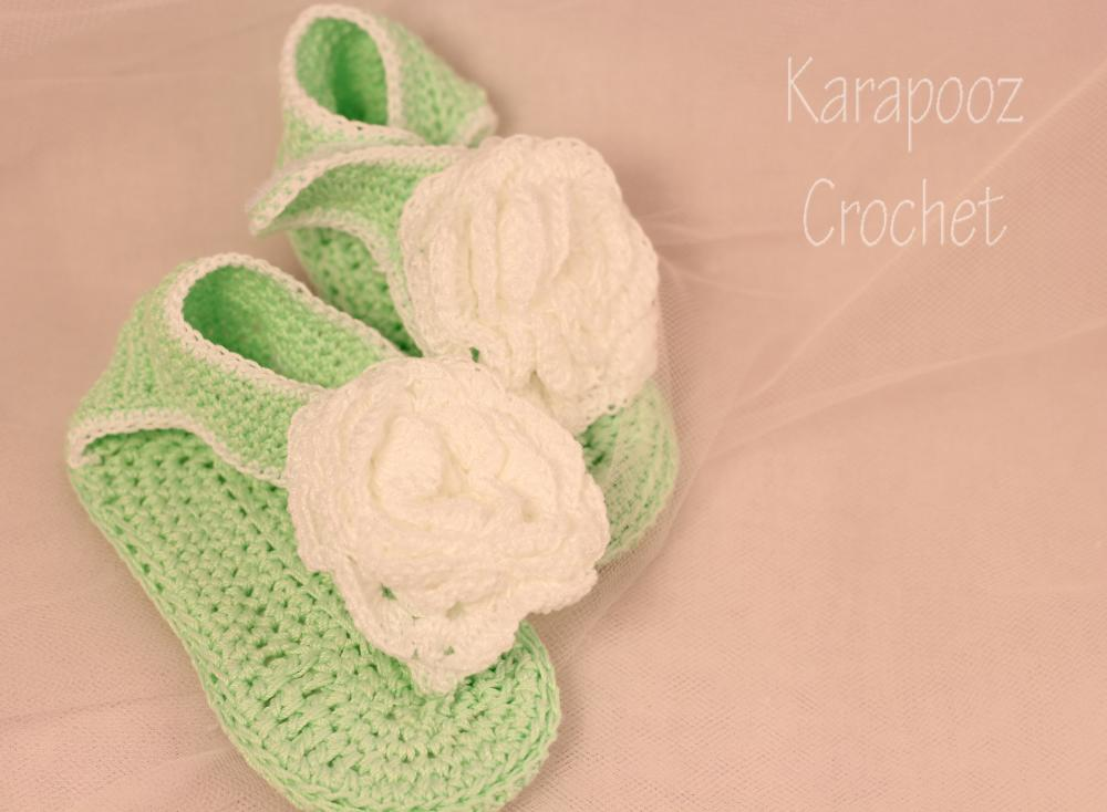 Crochet baby sandals/9-12 months/photo prop