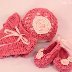 Crochet newborn ballerina/princess set 3-6 months